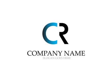 Letter CR Logo Design Vector.