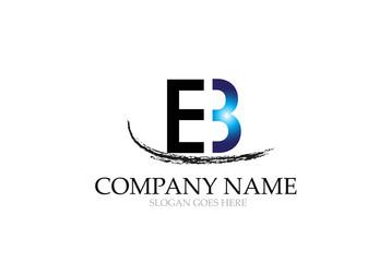 Letter EB Logo Design Vector.