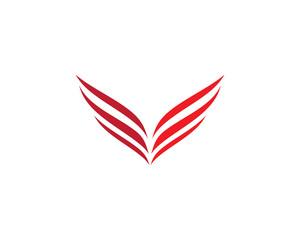Wing vector icon