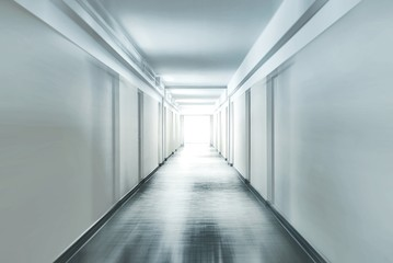Corridor with motion blur