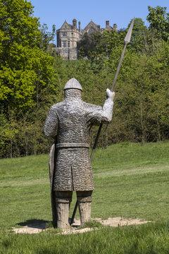 11th Century Soldier Sculpture at Battle Abbey