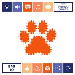 Paw - halftone logo