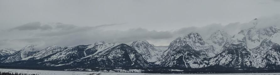 Panoramic view of Grand Teton National Park, WY