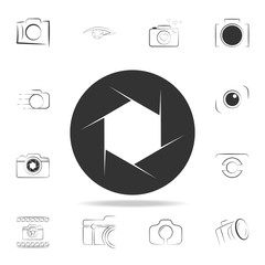 camera focus icon. Detailed set of photo camera icons. Premium graphic design. One of the collection icons for websites, web design, mobile app
