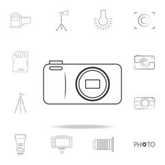 logo camera icon. Detailed set of photo camera icons. Premium graphic design. One of the collection icons for websites, web design, mobile app