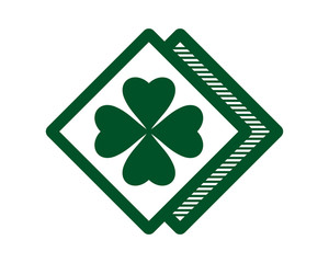 clover green leaves leaf plant irish image vector icon logo symbol rhombus