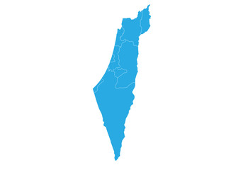 Map of israel. High detailed vector map - israel.