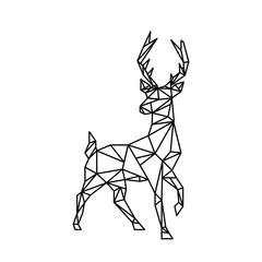 Deer geometric lines silhouette