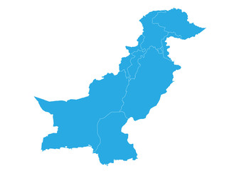 Map of pakistan. High detailed vector map - pakistan.