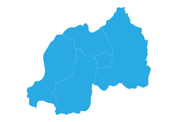 Map of rwanda. High detailed vector map - rwanda.