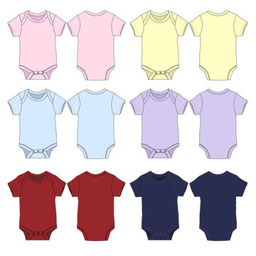 Vector template for Baby Onesies