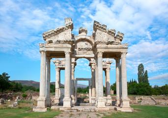 Tetrapylon Gate of Aphrodisias ancient city - Aydin, Turkey