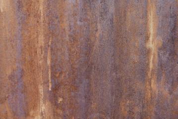 Closeup of rusty surface