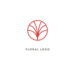 Vector illustration, Graphic Design Editable Design. Floral logo. Flower wedding icon. Luxury spring and summer, emblem.