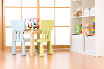 Interior of modern playing room for children