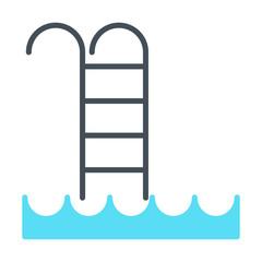 Swimming Pool Icon. Vector Simple Minimal 96x96 Pictogram