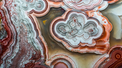 abstract pattern of agate stone. closeup detail of gemstone pattern. natural abstract geology background Wall mural
