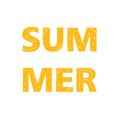 Lettering card. The inscription: summer. Perfect design for greeting cards, posters, T-shirts, banners, print invitations.