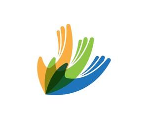 Hand community logo template