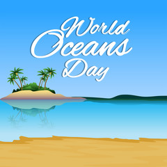 creative abstract, banner or poster for World Oceans Day with nice design illustration.