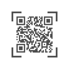 Machine-readable qr code for scanning on devices and barcode scanners