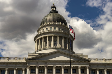 Dome of the Capital Building in early summer, State of Utah, Salt Lake City, Utah, USA.