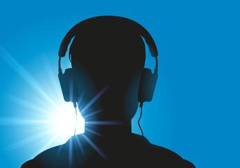 casque audio - concept - écoute - musique - détente - info - information - loisir - média - DJ - CD