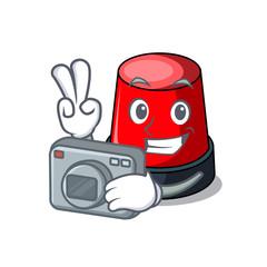 Photographer sirine mascot cartoon style