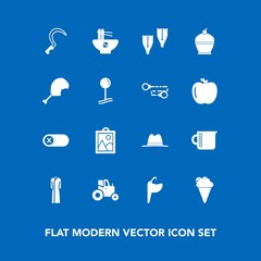Modern, simple vector icon set on blue background with chinese, bowl, summer, sport, deactivate, bathroom, container, switch, meal, picture, ice, cream, farm, underwater, food, tool, glass, pie icons