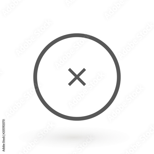 Cross Icon In Circle Can Be Used As Delete Block Close Button Etc