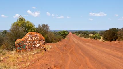 Australien, Sandstraße im Northern Territory, Mereenie Loop Road