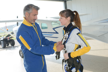 skydiving team training before