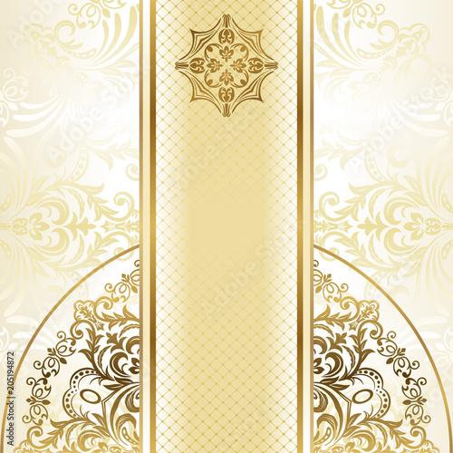 Elegant Invitation Cards Vector Illustration Stock Image