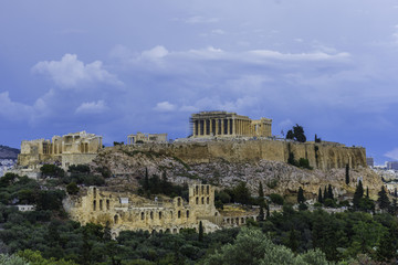 The Acropolis of Athens with the Parthenon Temple