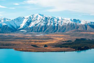 Lake Tekapo lookout from Mountain John