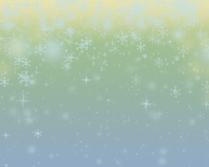 Abstract Christmas background and New Year on vintage background with  snowflakes,decor and place for text.