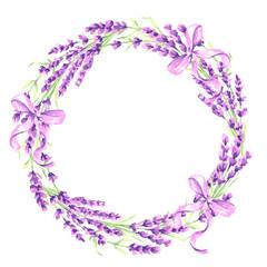 Lavender flowers decorative element.