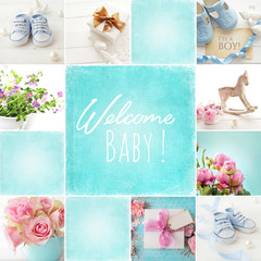 baby birth collage