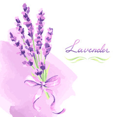 Lavender flowers background design.