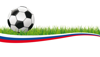 Football Grass Header Russia White Background