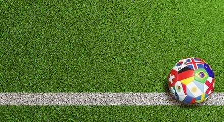 Fußball Hintergrund Header zur WM