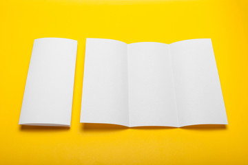Advertising art blank, paper blank, flyer mockup.