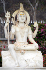 Statue de Shiva en marbre blanc, Rajasthan,Inde