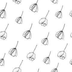 Floral seamless pattern. Textile vector Botanical design.