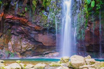 Levada das 25 fontes and levada do risco, Madeira Island, Portugal