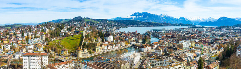 Luzern skyline. Panorama. Luzern city skyline.