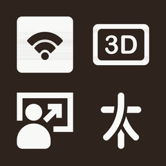 Symbols icon set - filled collection of 4 vector icons