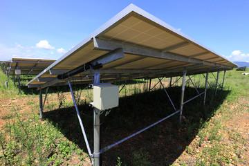 Fuse Box of Solar Farm Installed Under PV Panels
