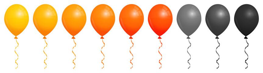 Set Halloween Balloons