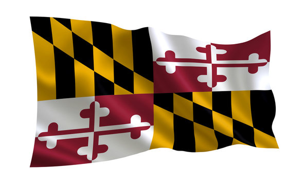 """Flag of the state Maryland. A series of """"flags of the United States of America"""""""